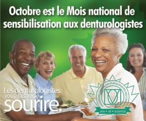Octobre mois national de la denturologie